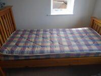 Single bed & Mattress (Julian Bowen bed) good condition