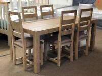 New/Ex-display*** Large dining table and 6 chairs