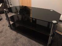 Black glass TV / Media unit for sale