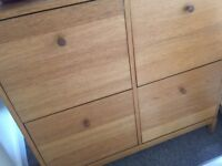 Wooden Shoe Storage Cupboard / Slim Shoe Rack
