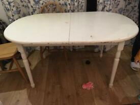 Solid wood painted extendable dining table - FREE