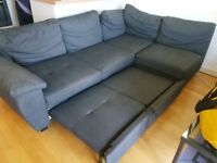 Stunning Charcoal Grey Corner Sofa bed. Was £750 now only £320. * Free Delivery*