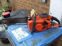 "Chainsaw Oregon pro-lite 18"". Chainsaw chain needs sharpening, file included, works okay, £20."