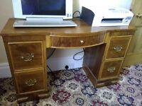 Vintage kneehole desk