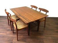 Retro Teak Danish Metamorphic Dining Table Coffee Table Vintage Mid Century Modern