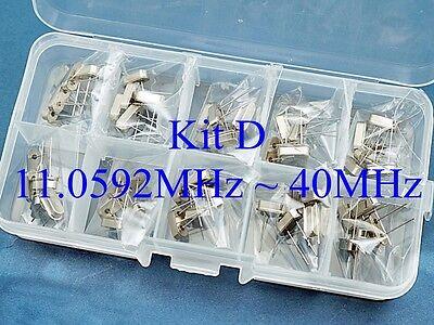 Quartz Kit D 50 Pcs 10 Values 11.0592mhz 40mhz Crystal Resonator Hc-49us