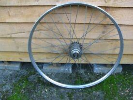 Vintage 24 inch Rear Wheel for 1950s BSA Ladies Shopper Bike with Sturmey Archer 3 speed hub.