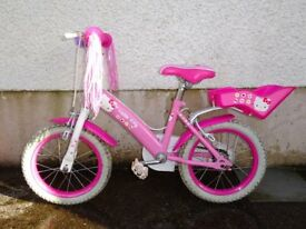 Girls' Hello Kitty 13'' bike with stabilisers