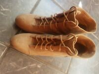 Tan suede boots size 7
