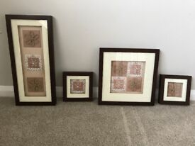 Set of four pictures/wallart