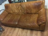 D f s leather sofa three seater