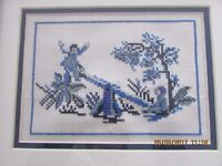 Blue Tapestry Framed Picture