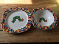 Portmeirion Hungry Caterpillar China Plate And Bowl