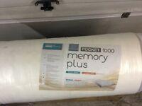 Memory Pocket Plus 1000 single bed mattress new