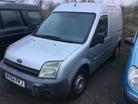 04 transit connect high top long wheel base side door long mot drives very well big volume van