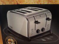 Russell Hobbs 4 slice wide slot toaster.