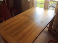 Solid oak dining table and side-board