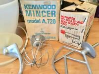 Vintage Kenwood Chef Mixer plus bowl, attachments and mincer. WORKING