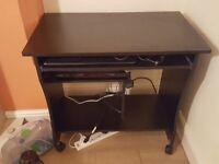 Small Black office computer desk