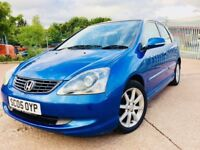 Superb 2005 Honda Civic 1.6 Executive full year mot with service history nice e ample