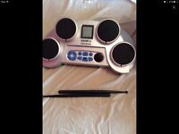 Electric drum kit/pad excellent condition used once ideal xmas gift comes boxed with charger
