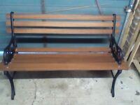 Restored garden bench and stall