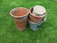 Terracotta pots assorted