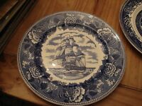 inner Plate Old English Staffordshire Ware U.S.S. Constitution Ship