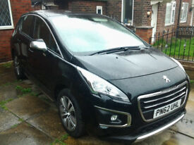 "PEUGEOT 3008 1.6HDI 12mths MOT, LOW MILEAGE 44,000, CRUISE CONTROL, 17""ALLOYS, NEW SHAPE FACE LIFT"