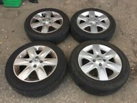 SET OF 4 NISSAN MICRA WHEELS & TYRES 15""