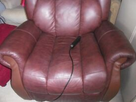 electric recliner brown leather good condition