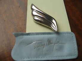 VINTAGE Brooch, Thierry Mugler Wing, Hallmarked/Signed (with original pouch)