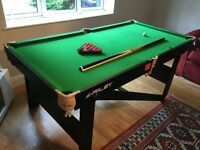 Snooker table, 6' x 3'
