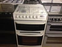 White 60cm cannon gas cooker (fan oven)