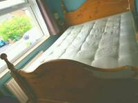 PRICE DROP 5ft king size *BED FRAME ONLY* RESTORATION PROJECT