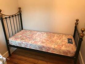 Metal Single Bed Frame with Matress
