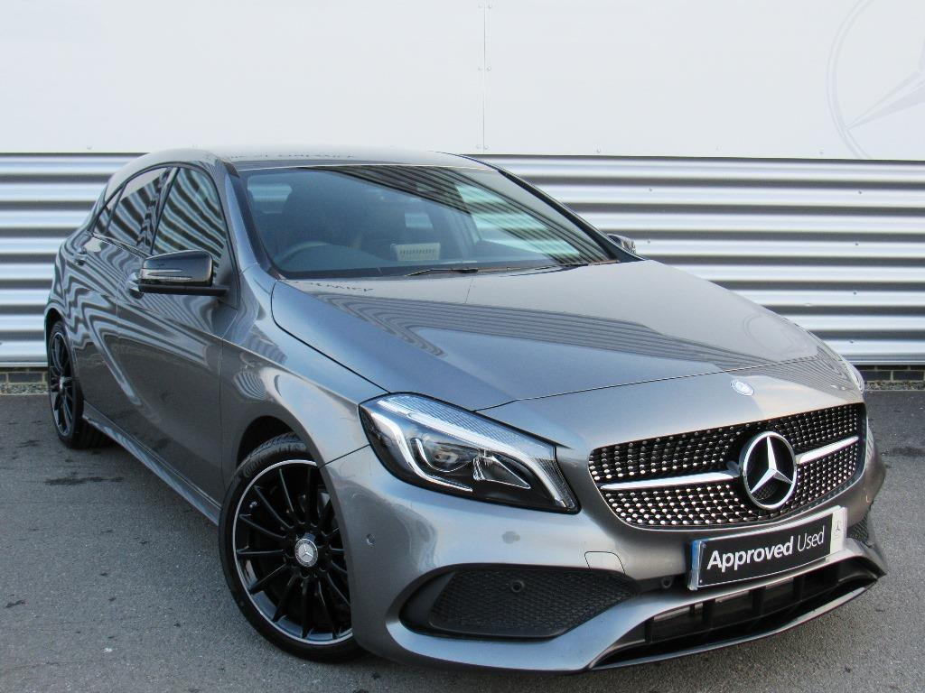 mercedes benz a class a 200 d amg line premium grey 2017 03 01 in crawley west sussex gumtree. Black Bedroom Furniture Sets. Home Design Ideas
