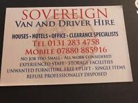 Removals - Van and driver hire