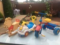 Toddlers Toys (Tricycle/Rocking Bear/Ride-On-Car)