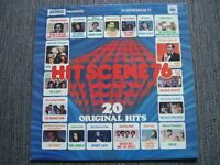 "12"" LP vinyl record, Hit Scene 76 - 20 original hits from Warwick"