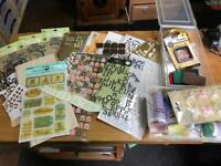 Huge quantity of stickers/peel offs, die cuts and other embellishments