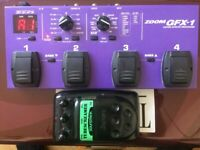 ZOOM GFX-1 Guitar Effects Processor+ free Tubescreamer. £45.
