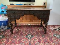 Beautiful Carved Antique Hewetson Milner Thexton Furniture Desk