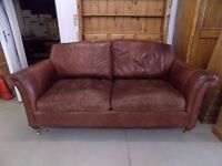 Beautiful Derwent Westbury/Parker Knoll 3 Seater Leather Sofa
