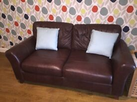 Leather M&S abbey sofa