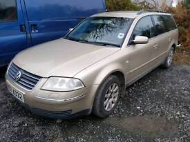 03 vw Passat Tdi pd 130bhp parts or repair