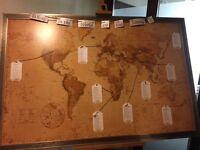 Vintage World Map Framed - Size A1