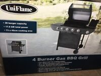 New unopened uniflame bbq gas 4+1 grill