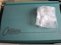50 NEW GREEN CRYSTALFILE SUSPENSION FILES IN ORIGINAL BOX C/W TABS AND INSERTS