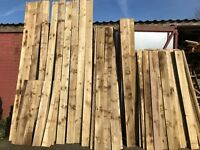 "Timber Wood Downgrade Feather Edge Shiplap Newel/Fence Posts 12"" x 4"" Joists"